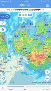 2018年台風24号雨雲